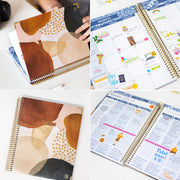 2021-22 Hard Cover Vision Planner & Calendar, Earthy Abstract
