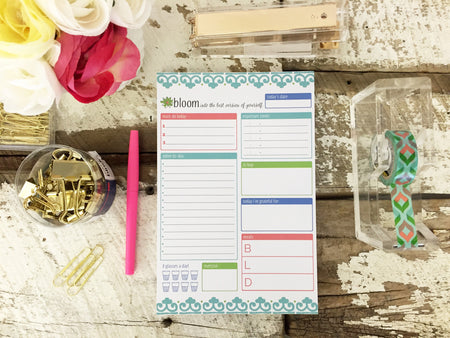 "Planning System To-Do Pad, Teal, 6"" x 9"""