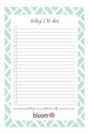 "Mint Slats To-Do Pad, 6"" x 9""-IMPERFECT"