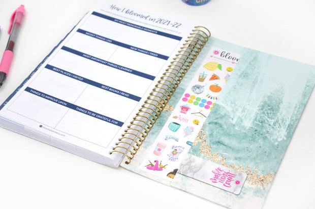 2021-22 Soft Cover Daily Planner & Calendar, Crystal Blue