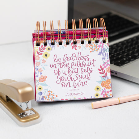 Inspirational Perpetual Desk Easel, Hand-lettered