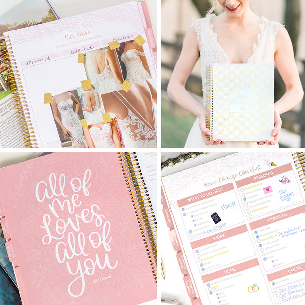 Wedding Planner & Calendar, Gold Scallops Version 2