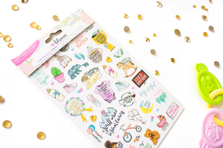 Sticker Sheets, Pregnancy & Baby's First Year Stickers - IMPERFECT