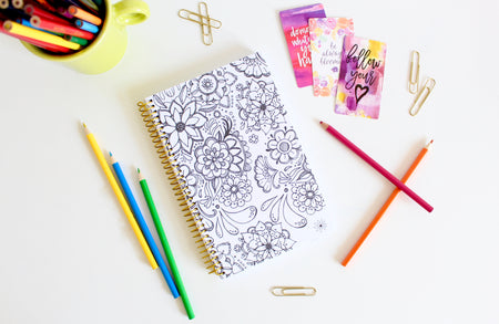 Undated Daily Planner & Calendar, Coloring Book