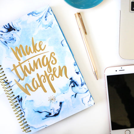 Undated Daily Planner & Calendar, Make it Happen
