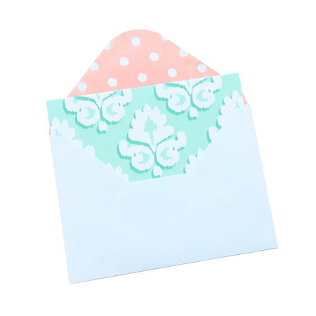 Card Set, Blank Mint Damask