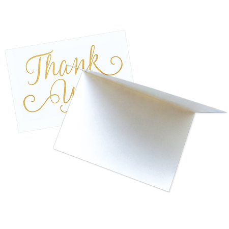 Thank You Card Set Gold Foil