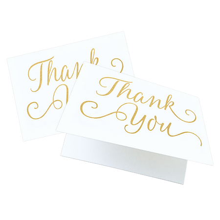 Card Set, Thank You Gold Foil