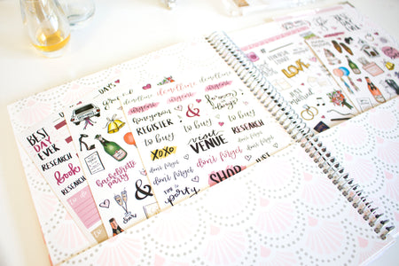 Sticker Sheets, Wedding Planning Stickers V1
