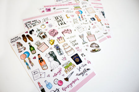 Sticker Sheets, Wedding Planning Stickers