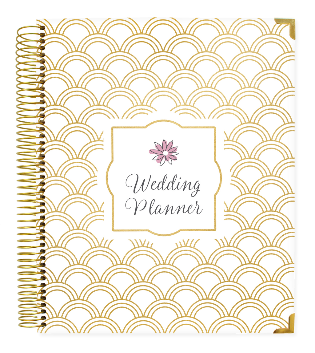 Wedding Planner & Calendar, Gold Scallops