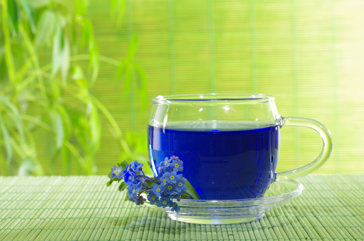 Experience the magic of nature in a cup with our Organic Blue Magic Tea!