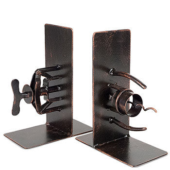 Antique Corkscrew Book Ends