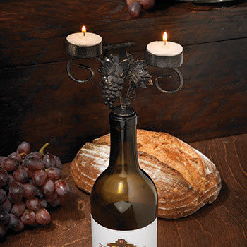 Candelabra - Grapevine Wine Bottle