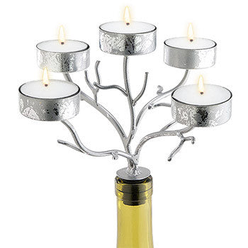 Candelabra - Silver Branches 5 Tealights