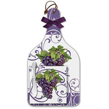 Cheese Server Gift Set - Vineyard Grapes
