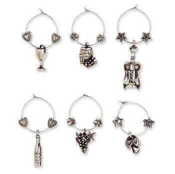 Wine Glass Charms - Touring & Tasting