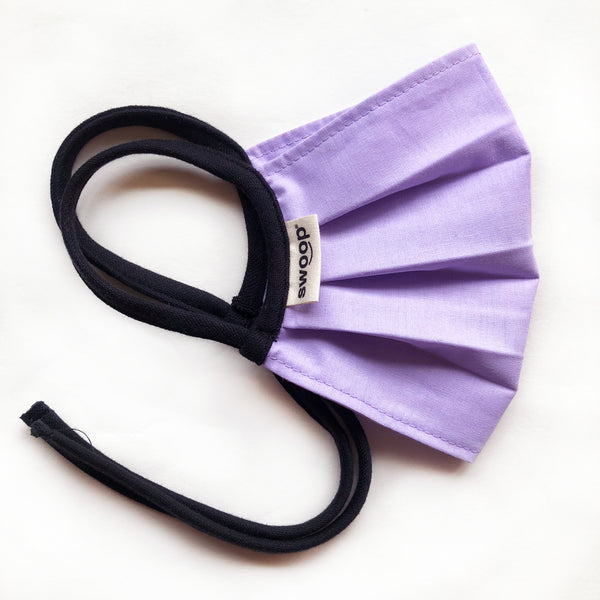 lilac cotton face mask by swoop bags