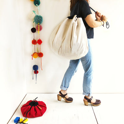 Canvas Swoop Toy Storage Bag Sack
