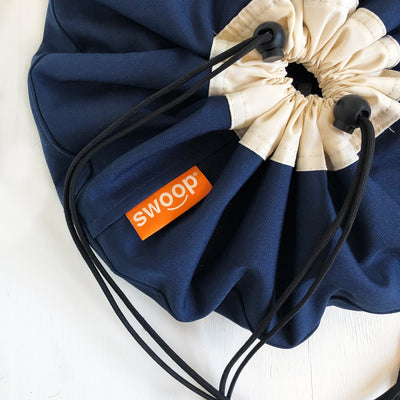 detail of mini swoop bag navy