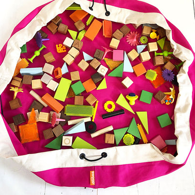 pink swoop bag great idea for toy storage