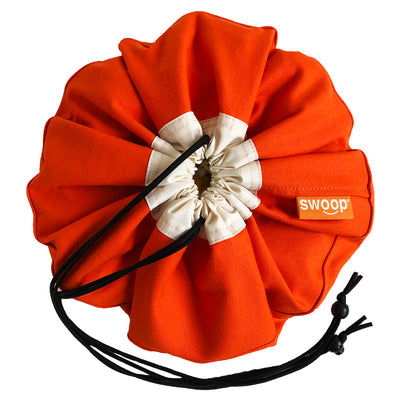 mini swoop toy bag orange canvas