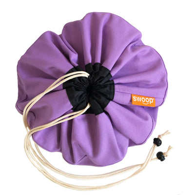 Lilac Purple Mini Swoop Toy Storage Bag