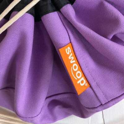 Detail of Canvas Purple Lilac Mini Swoop Bag