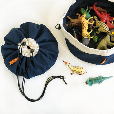 mini swoop bag for toy storage navy