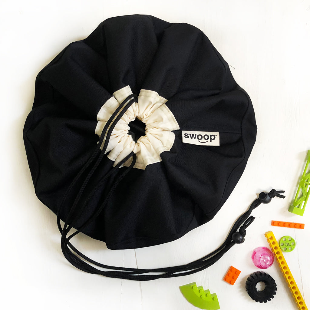 mini black toy storage bag by swoop