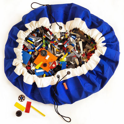 Royal Blue Swoop Toy Bag with LEGO for storage ideas