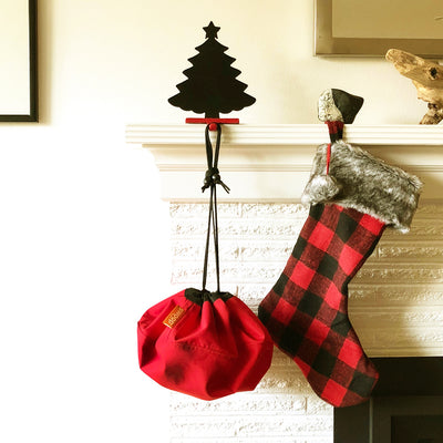red mini swoop bag stocking