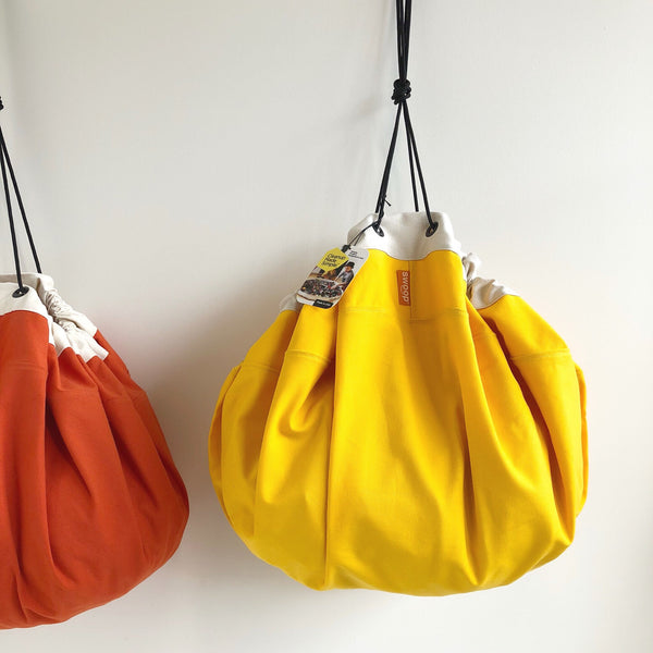 yellow swoop toy storage bags