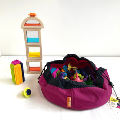 pink berry toy storage bag