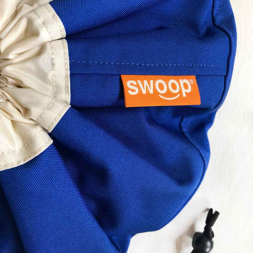 royal blue swoop mini bag