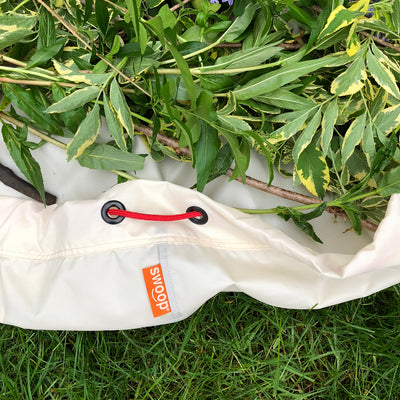 detail of swoop garden weeding mat and bag