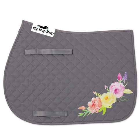 Grey Floral Patch Pad