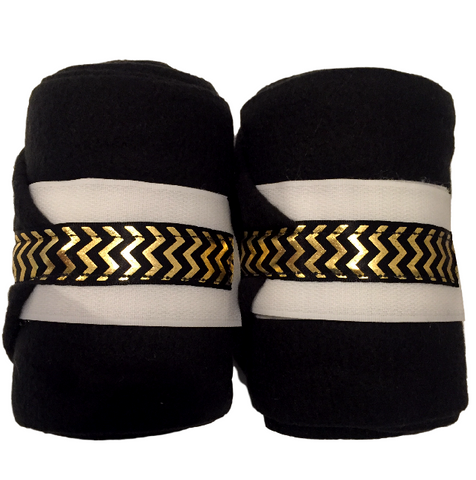 Black and Gold Chevron Polos