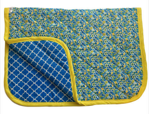 Blue and Yellow Reversible Baby Pad