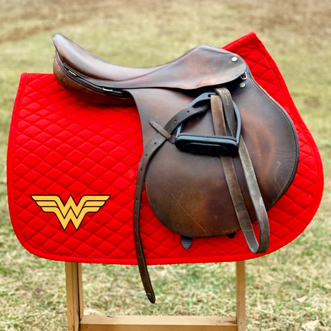Red Wonder Woman Patch Pad