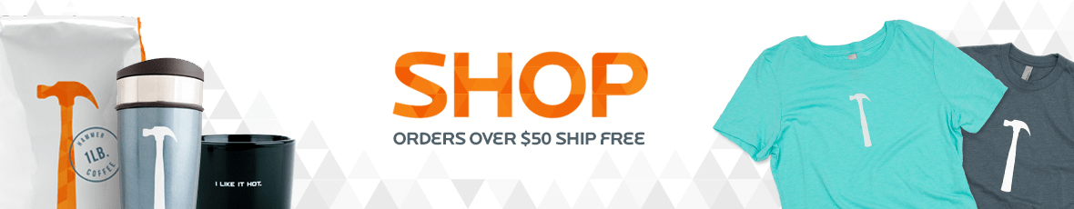 Shop - All orders over $50 ship free.