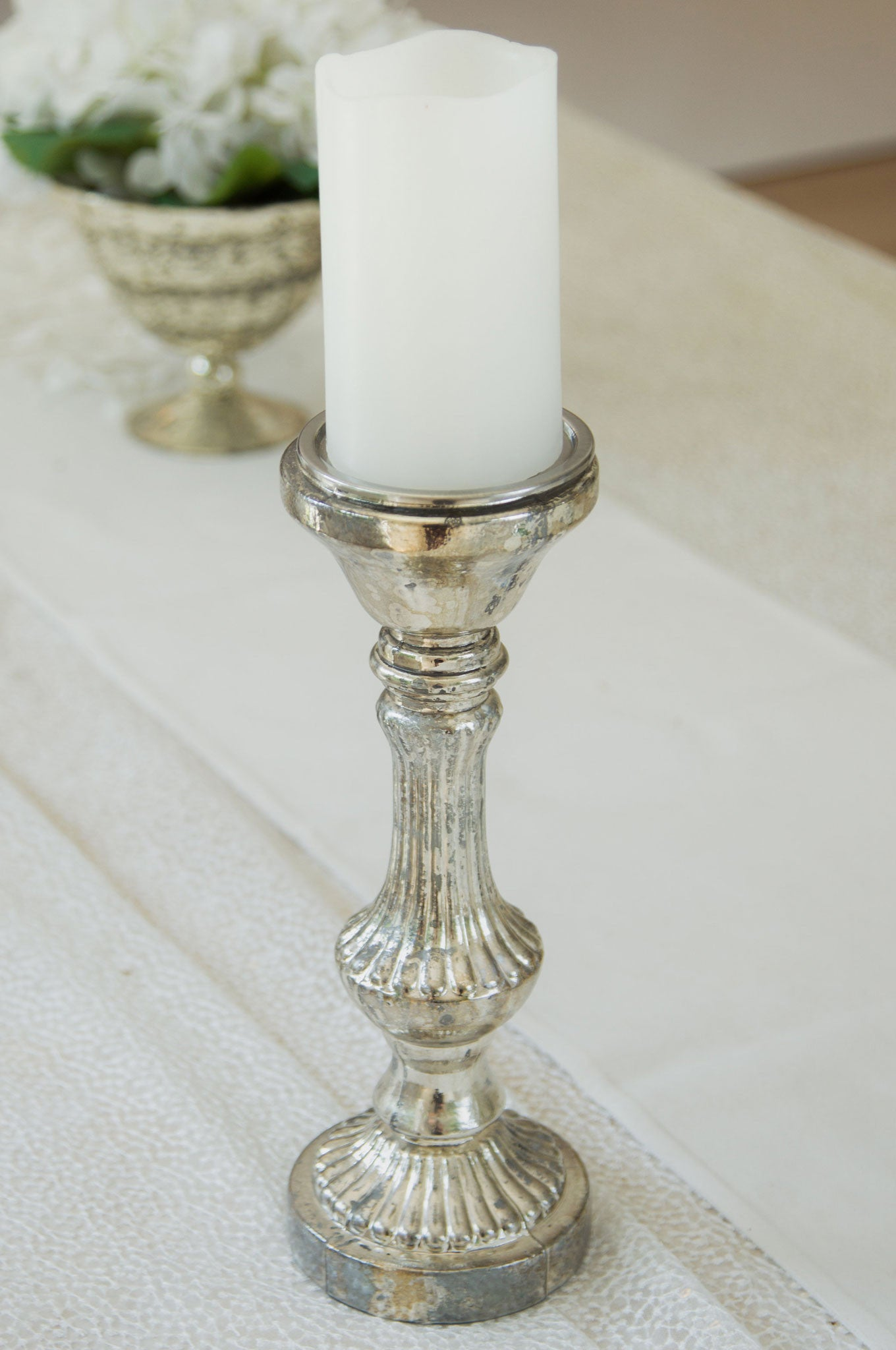 Champagne Candlestick Holder