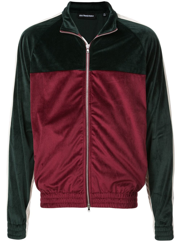 VARSITY ZIP - GREEN/BURGUNDY