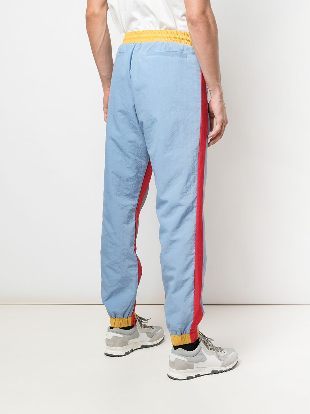 SUPERSTAR WARM UP PANT (LIGHT BLUE/RED)