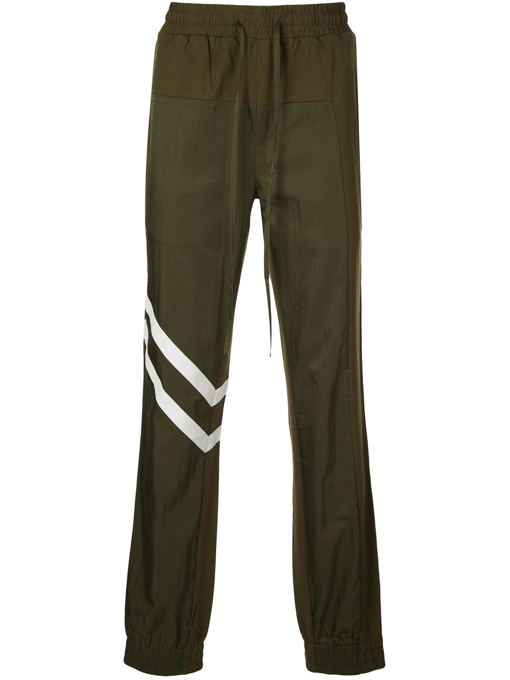 BLOCKED PANTS (ARMY GREEN/WHITE)