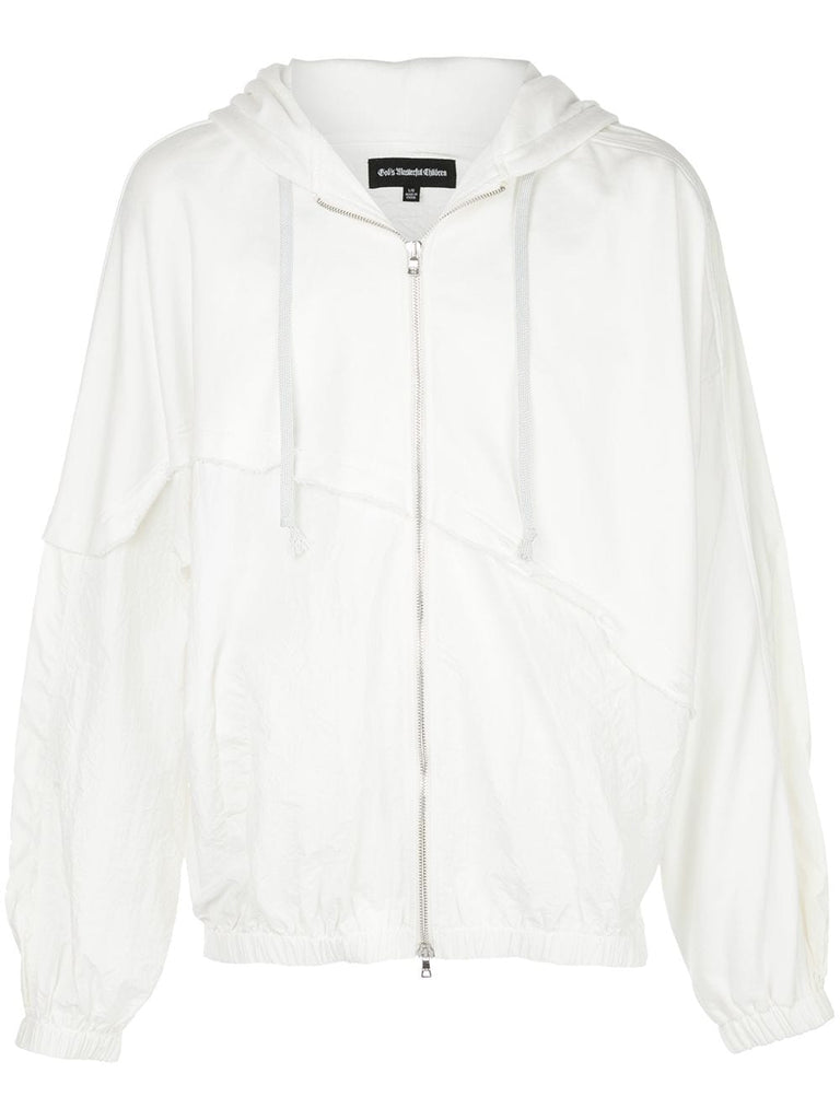 TERRY MIX COLOR BLOCK JACKET (OFF WHITE)