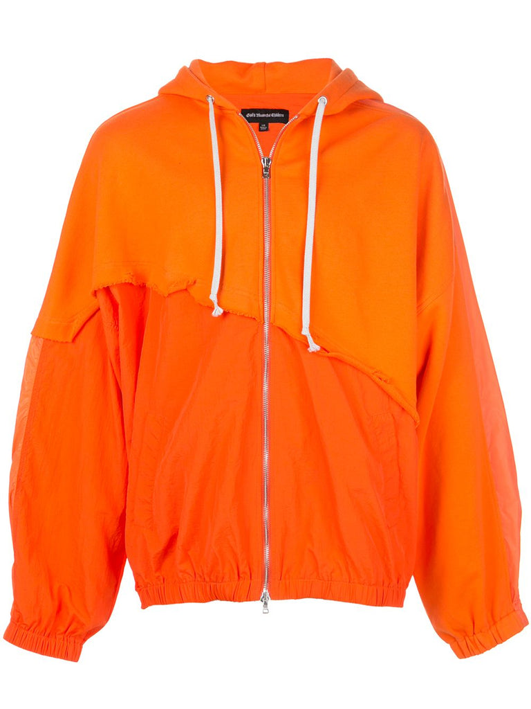 TERRY MIX COLOR BLOCK JACKET (ORANGE)