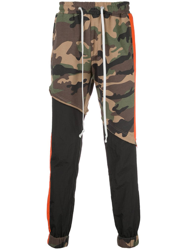 TERRY MIX COLOR BLOCK JOGGER (CAMO/BLACK/ORANGE)