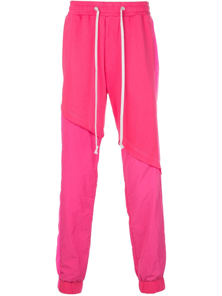 TERRY MIX TONAL JOGGER (HOT PINK)