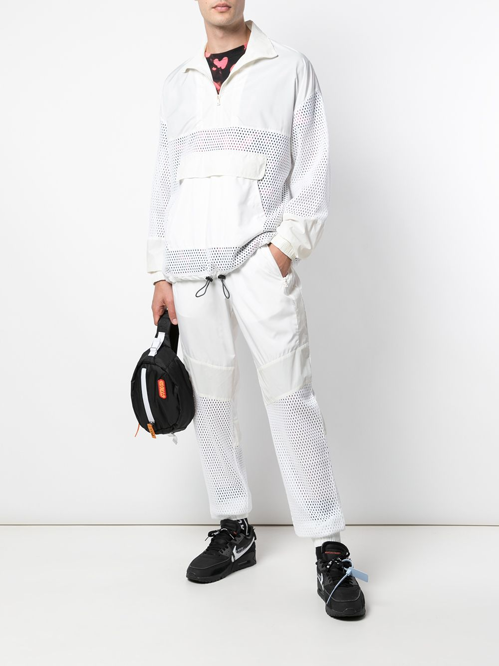 MESH MIX JOGGER (OFF WHITE)